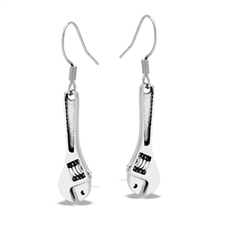 Stainless Steel Wrench Dangle Earring