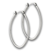 Stainless Steel 3 mm x 30 mm Hoop Earring