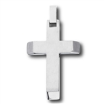 Stainless Steel Cross with Beveled High Polish Ends Pendant