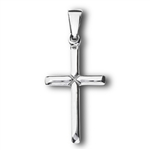 Stainless Steel Small High Polish Cross Pendant