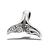 Stainless Steel Whale's Tail Pendant With Indian Design