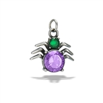 Stainless Steel Spider Pendant With Mixed CZS