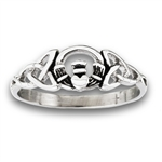 Stainless Steel Celtic Cladduagh Ring