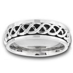 Stainless Steel Celtic Spinning Ring