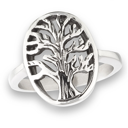 Stainless Steel Tree of Life Ring