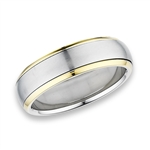 Stainless Steel Spinning Ring with Gold IP
