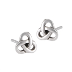Sterling Silver Celtic Knot Stud Earring