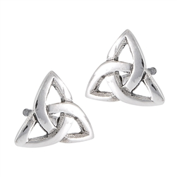 Sterling Silver Celtic Triquetra Stud Earring