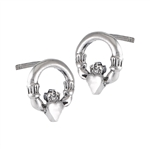 Sterling Silver Claddaugh Stud Earring