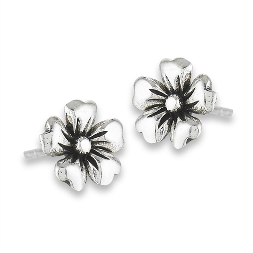 petals flower pink stud and jewellery image silver earrings enamel sterling with