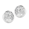 Sterling Silver Tree Of Life Stud Earring