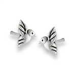 Sterling Silver Hummingbird Stud Earring