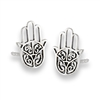 Sterling Silver Hand Of Fatima Stud Earring