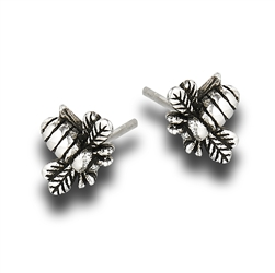Sterling Silver Bumble Bee Stud Earring