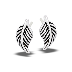 Sterling Silver Leaf Stud Earring