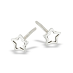 Sterling Silver Medium Star Stud Earring