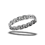 Sterling Silver Handmade Oxidized Weave Ring