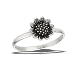 Sterling Silver Sunflower Ring