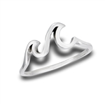 Sterling Silver Double Wave Ring
