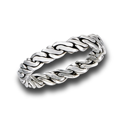 Sterling Silver Intricately Braided Ring