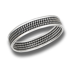 Sterling Silver Bali Style Braided Ring