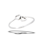 Sterling Silver Loving Hearts Ring