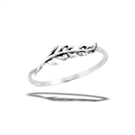 Sterling Silver Dainty Leaves Ring