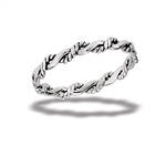 Sterling Silver Interwoven Twist Ring