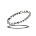 Sterling Silver 2 mm Rolling Bead Ring