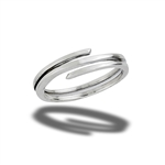 Sterling Silver 3-Liner Ring