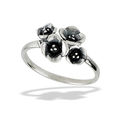 Sterling Silver Flower Bouquet Ring