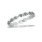 Sterling Silver Petite Swirl Ring