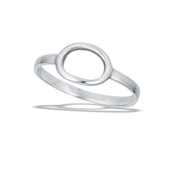 Sterling Silver High Polish Small Oval Ring