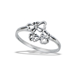 Sterling Silver Butterfly Family Ring