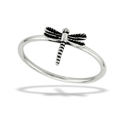 Sterling Silver Hovering Dragonfly Ring