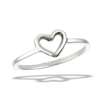 Sterling Silver Classic Heart Ring