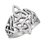 Sterling Silver Celtic Triquetras Ring