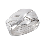 Sterling Silver 6 Piece Puzzle Ring