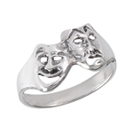 Sterling Silver Comedy Tragedy Ring
