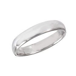 Sterling Silver 3 mm High Polish Wedding Band Ring