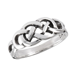 Sterling Silver Celtic Endless Knot Ring