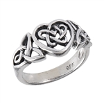 Sterling Silver Celtic Heart Ring