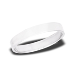 Sterling Silver 4 mm High Polish Flat Wedding Band