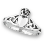 Sterling Silver Claddaugh Ring