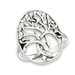 Big, Beautiful 24 mm Sterling Silver Tree Of Life Ring in Wholesale Bulk Purchasing