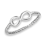 Classic 11 mm Sterling Silver Infinity Ring in Wholesale Bulk Purchasing