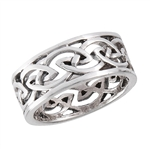 Sterling Silver Heavy Celtic Weave Ring