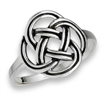 Sterling Silver Rounded Celtic Ring
