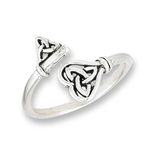 Sterling Silver Double Triquetra Key Ring