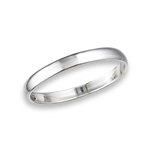Sterling Silver 2.5 mm Classic, High Polish, Heavy Gauge, Wedding Band